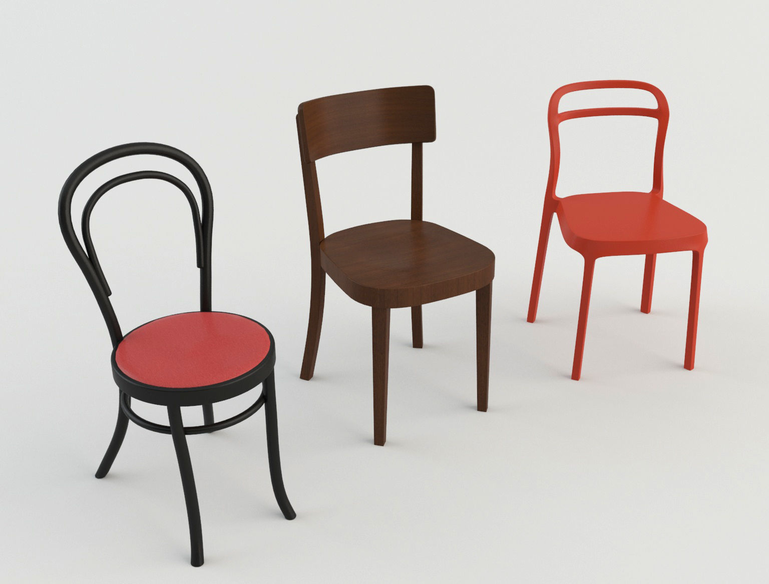 Cafeteria Chairs Bar Cafeteria Chairs 2 3d Model