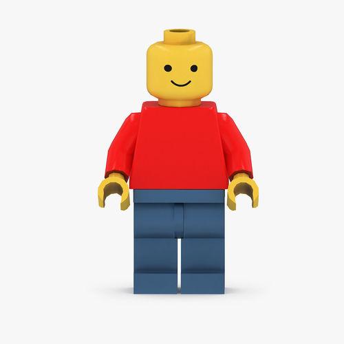 3D Asset Classic Lego Man Figurine CGTrader