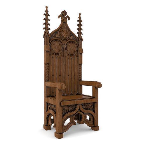 Throne 3D model  CGTrader