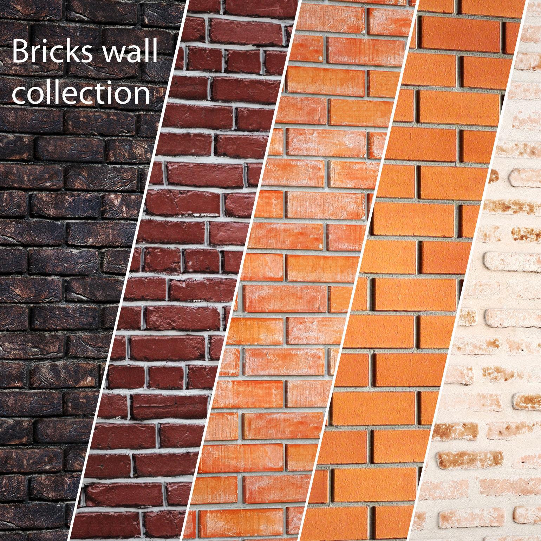 bricks wall set 3d