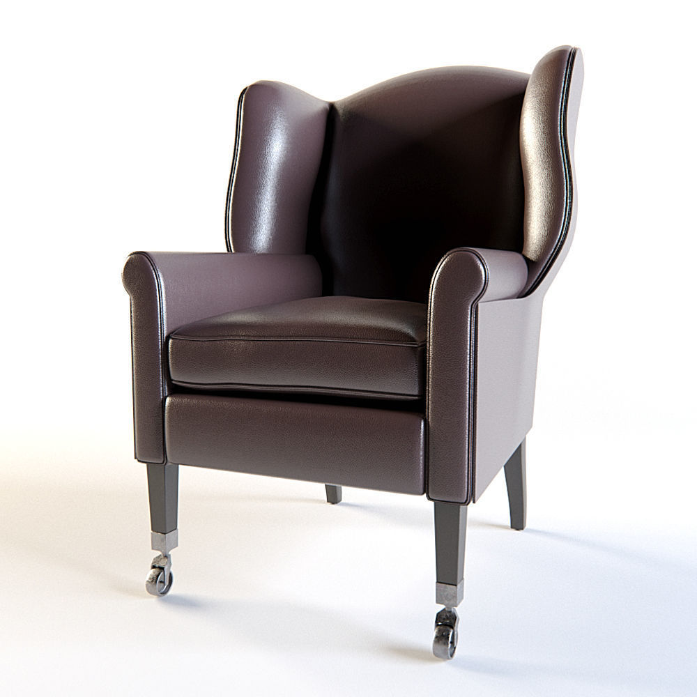 Restoration Hardware Leather Chairs Restoration Hardware Asher Leather Chair 3d Model