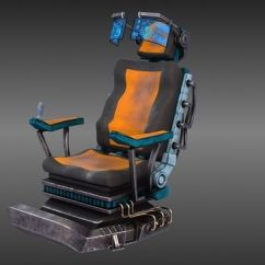 Ergonomic Chair Description Orange Leather Sci Fi Armchair 3d Model | Cgtrader