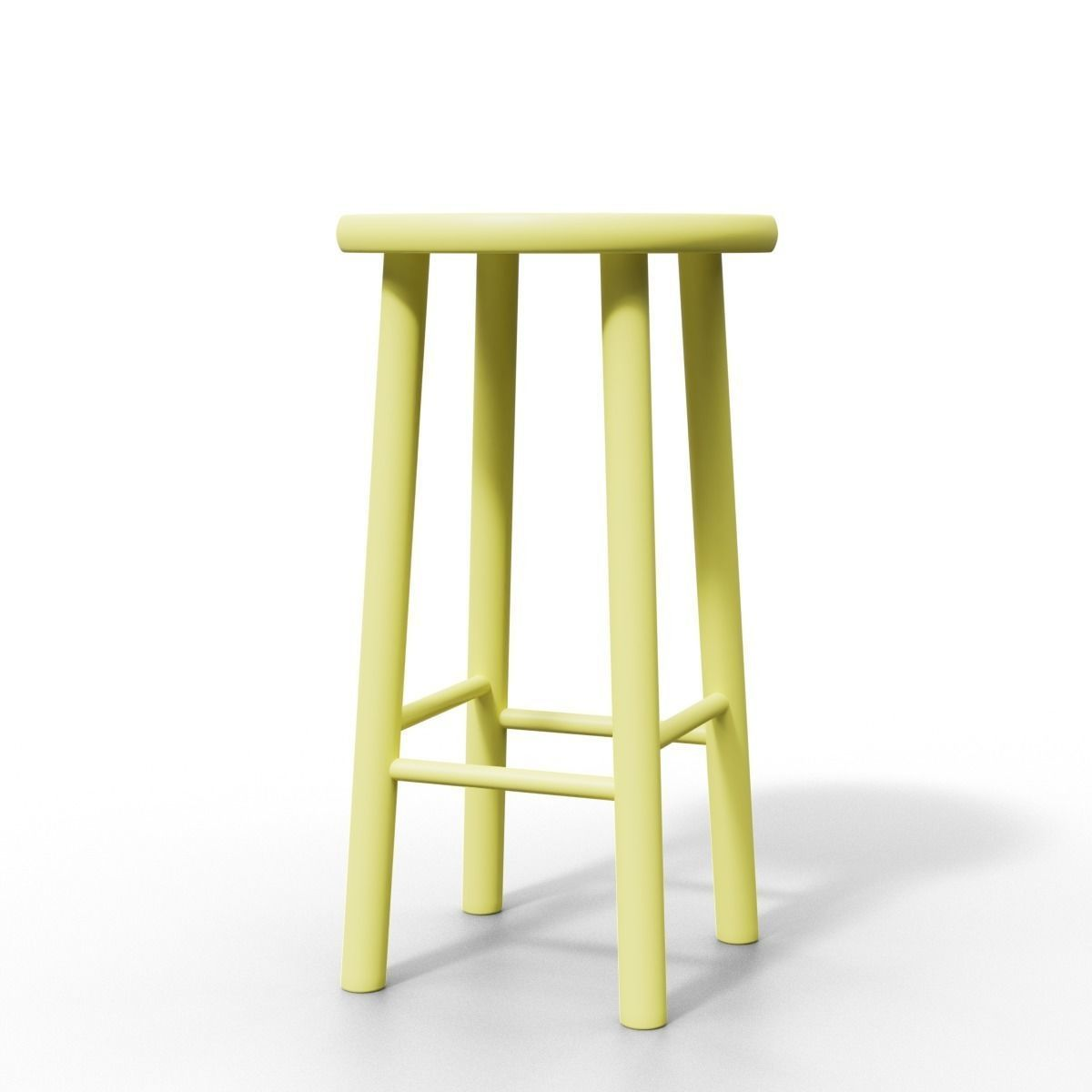 Small Stool Chair Simple Small Stool Chair 3d Model