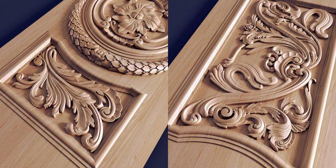 3D Print Model Carved Door Decorative CGTrader