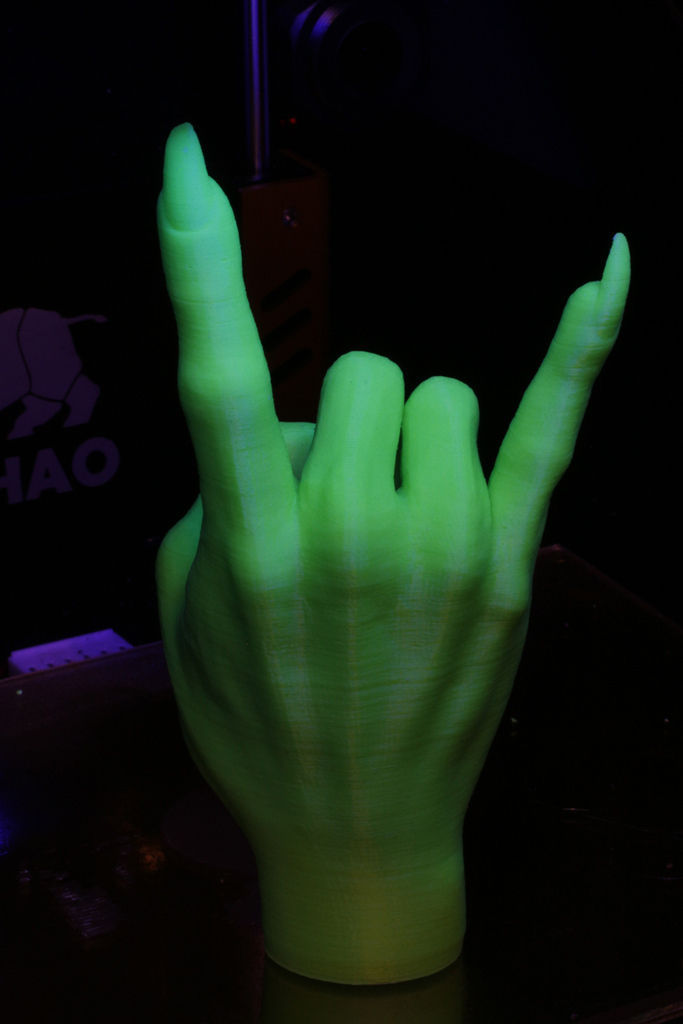 Devil Horns Gesture Witch free 3D Model 3D printable stl  CGTradercom