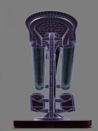 Futuristic ergonomic pilot seat 3D Model Game ready rigged ...