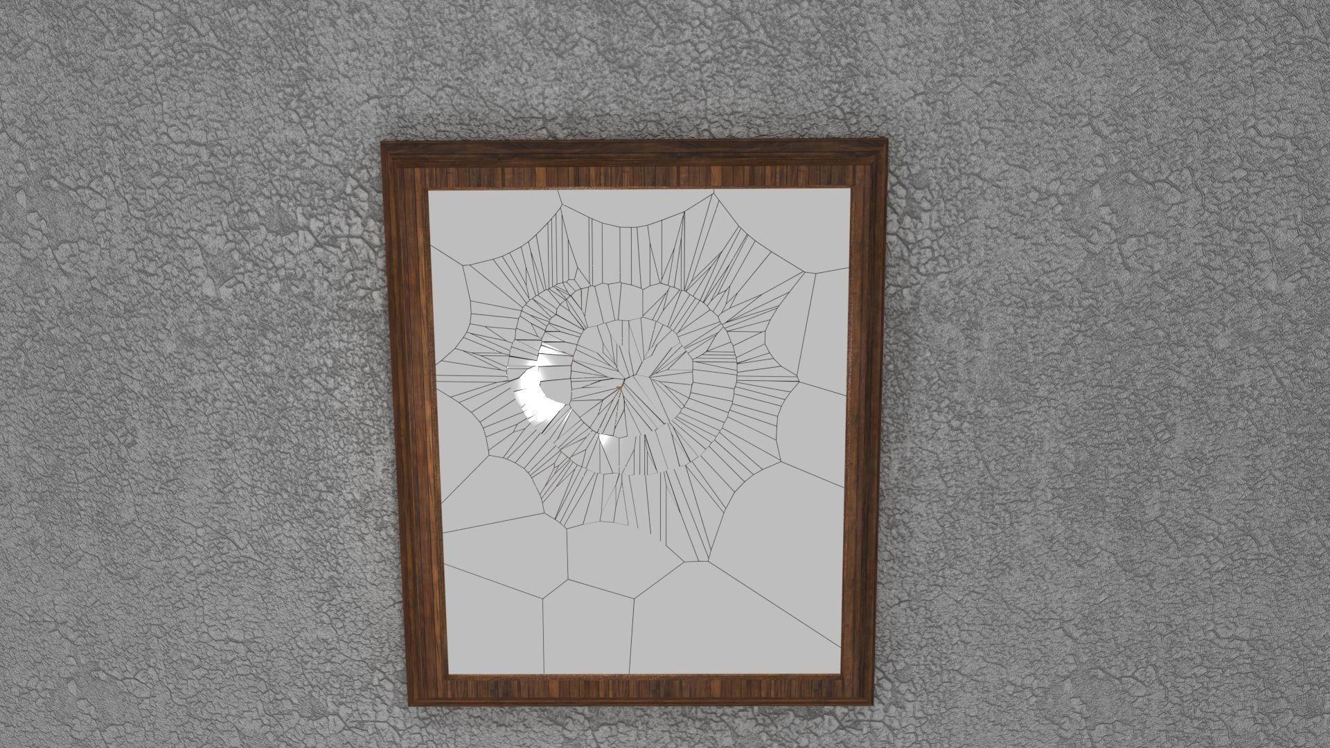 Broken Mirror 3d Asset Cgtrader