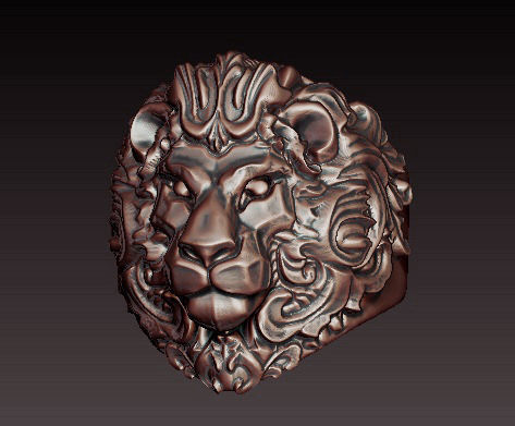 Fierce 3D Lion Ring Filigree CGTrader