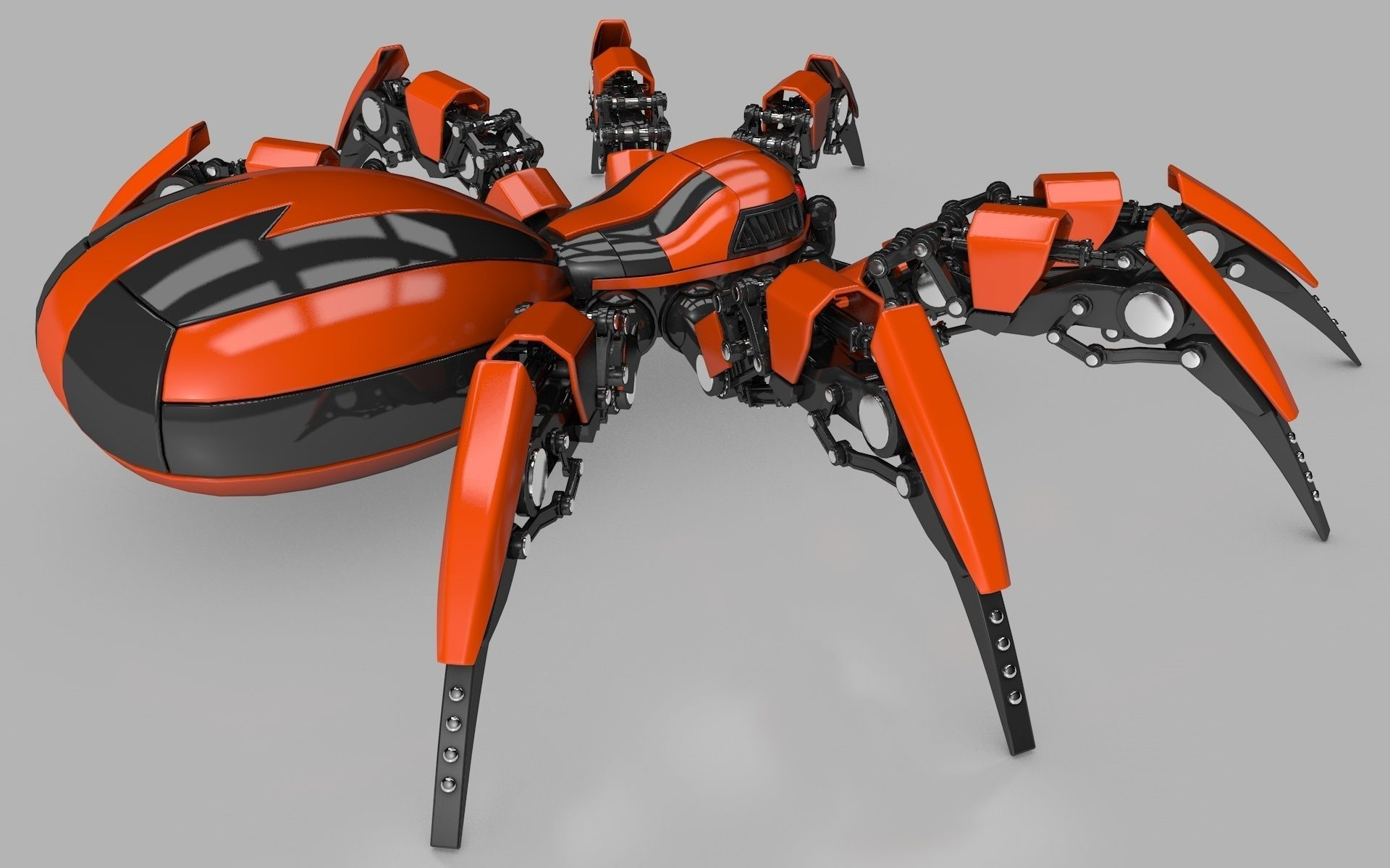 mechanical sex chair best outdoor lounge spider robot 3d model rigged obj 3ds fbx c4d