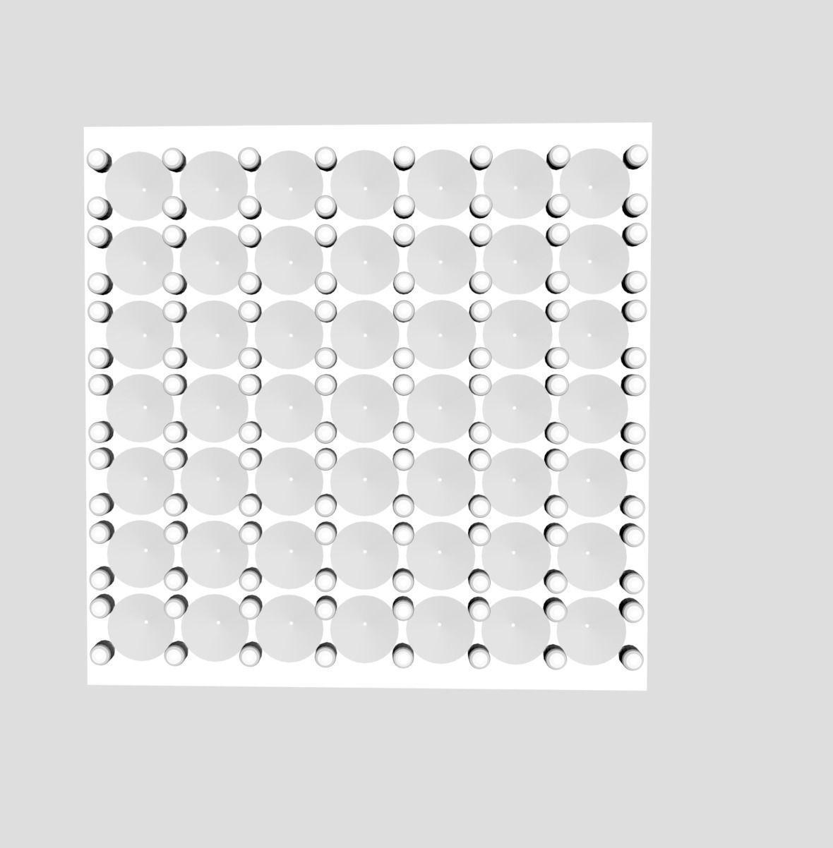 diamond setting practice block 3D printable model
