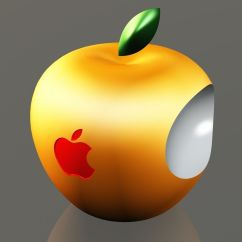 New Kitchen Gadgets Aid Bowl 3d Apple Logo Free Model Printable .stl .dwg .sldprt ...