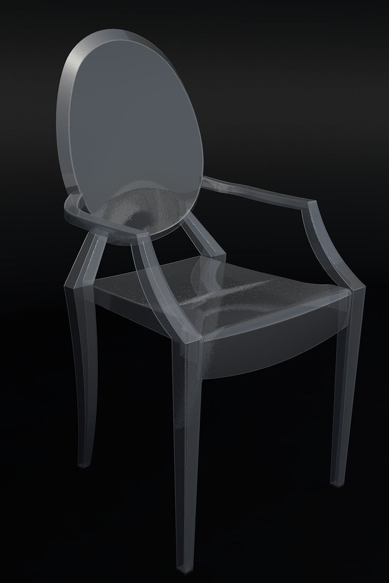 Ghost Chair by Philippe Starck 3D Model DWG  CGTradercom
