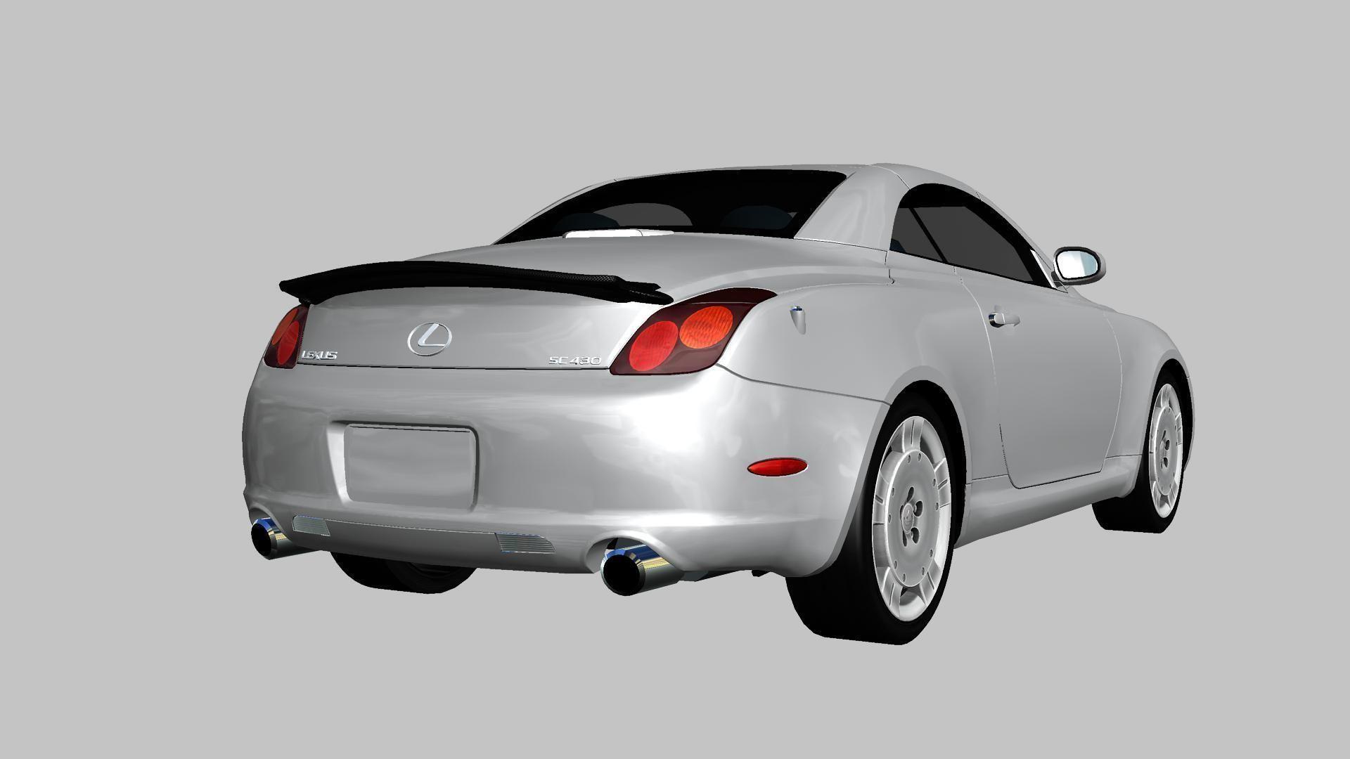 Lexus SC430 2002 3D asset