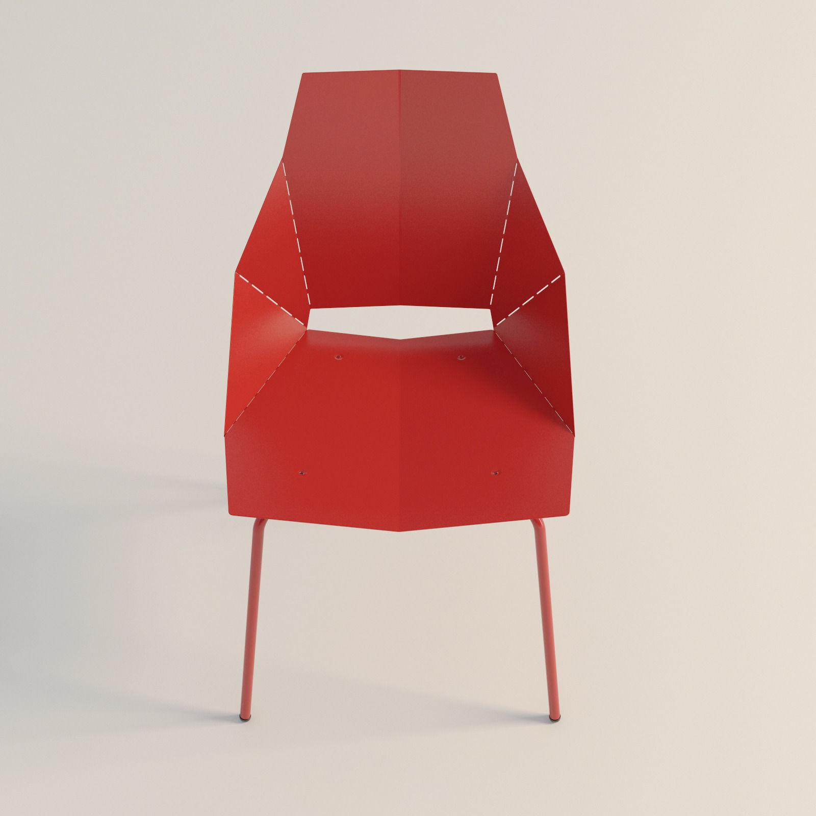 real good chair build a blu dot 3d model max obj 3ds fbx mtl
