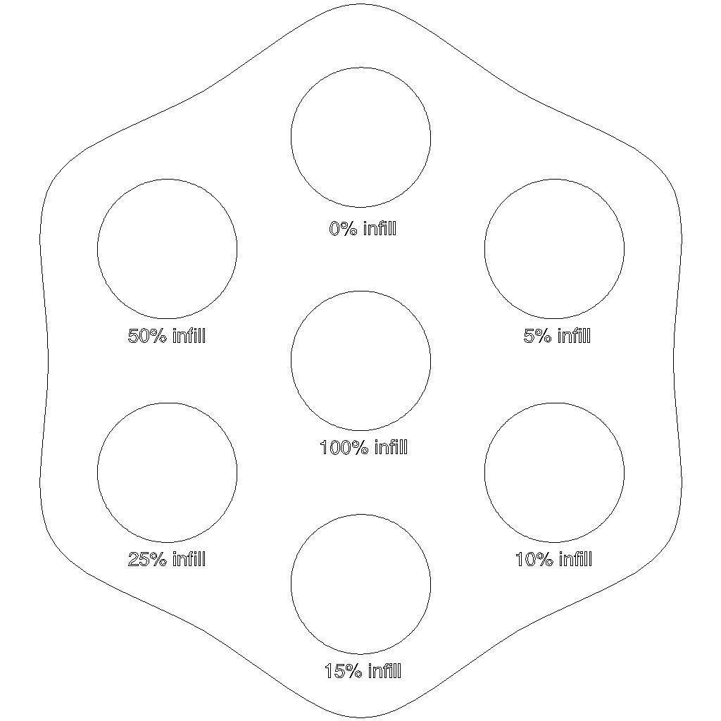 3D print infill percentage disks MakerWare... free 3D