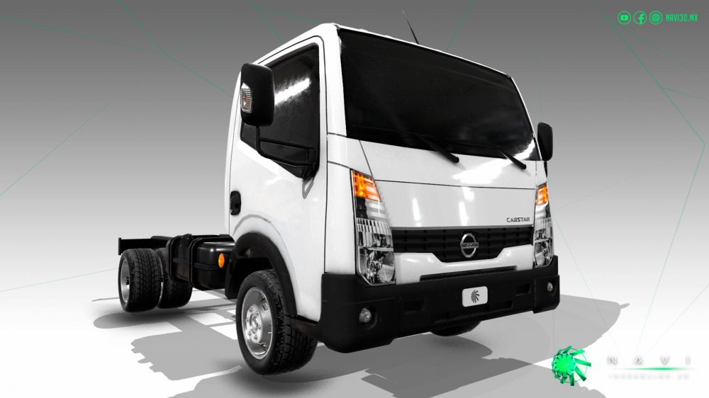 medium resolution of nissan cabstar truck trailer 2017 car model mid poly low poly 3d model