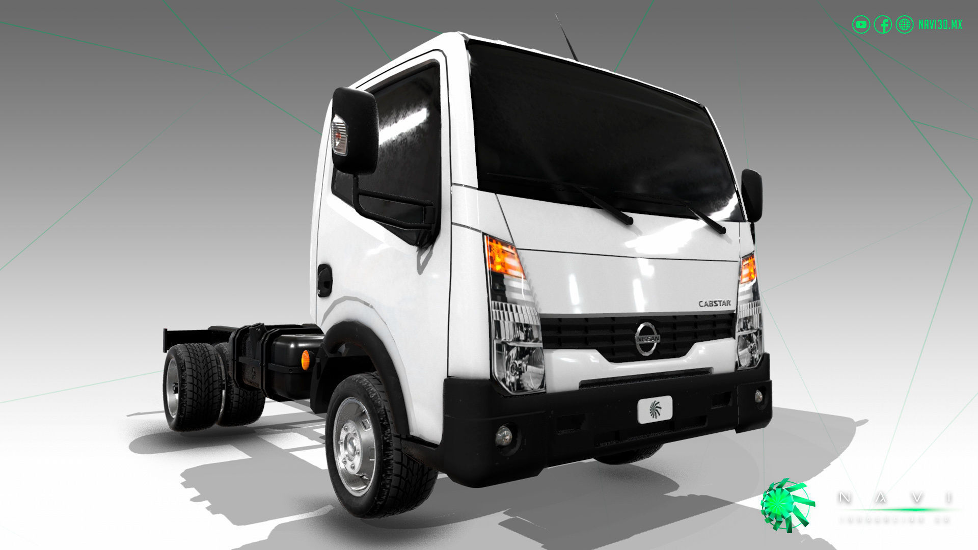hight resolution of nissan cabstar truck trailer 2017 car model mid poly low poly 3d model