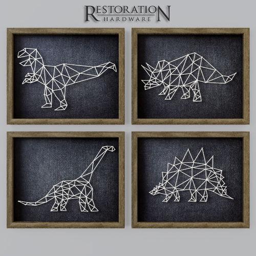 3D Model Dinosaur String Art RH CGTrader