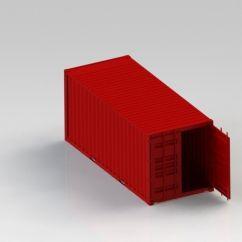 Print Sofa Set Bed Parts Uk 20ft Container 3d Model Printable .stl .sldprt .sldasm ...