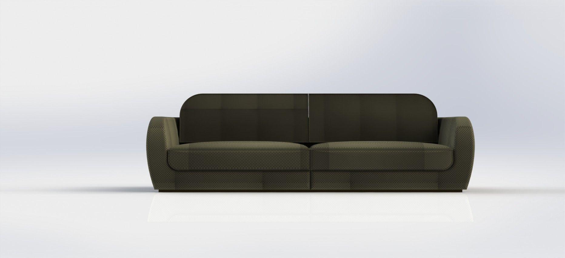 simple modern sofa 3D Model .stl .sldprt .sldasm .slddrw