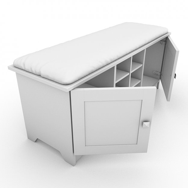 Entryway Storage Bench With Cushion Homes Decoration Tips