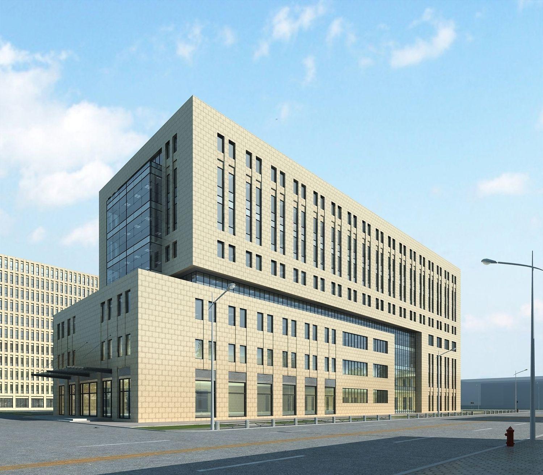 Office Building Exterior Design 3D Model MAX