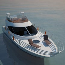 Small Yacht 2 3d Models