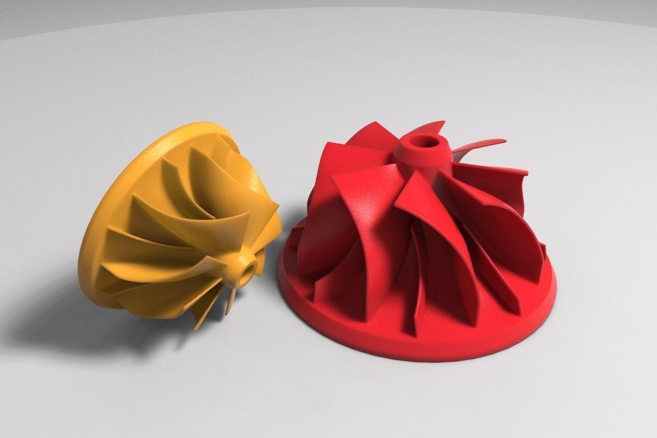 Compressor Impeller 3D Model 3D printable STL  CGTradercom