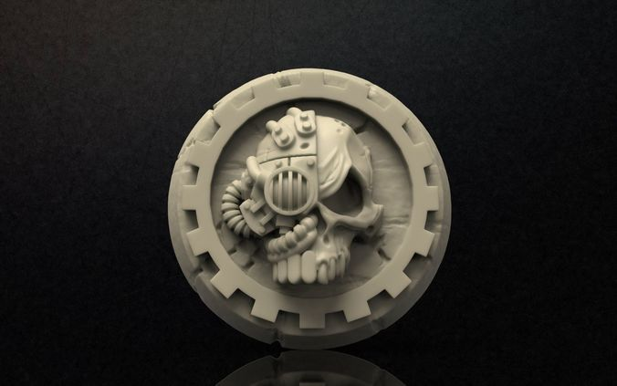 3D Print Model Adeptus Mechanicus Logo CGTrader