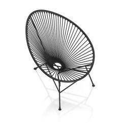 Black Wire Chair Desk With Wheels Round 3d Model Max Obj Mtl Fbx C4d 5