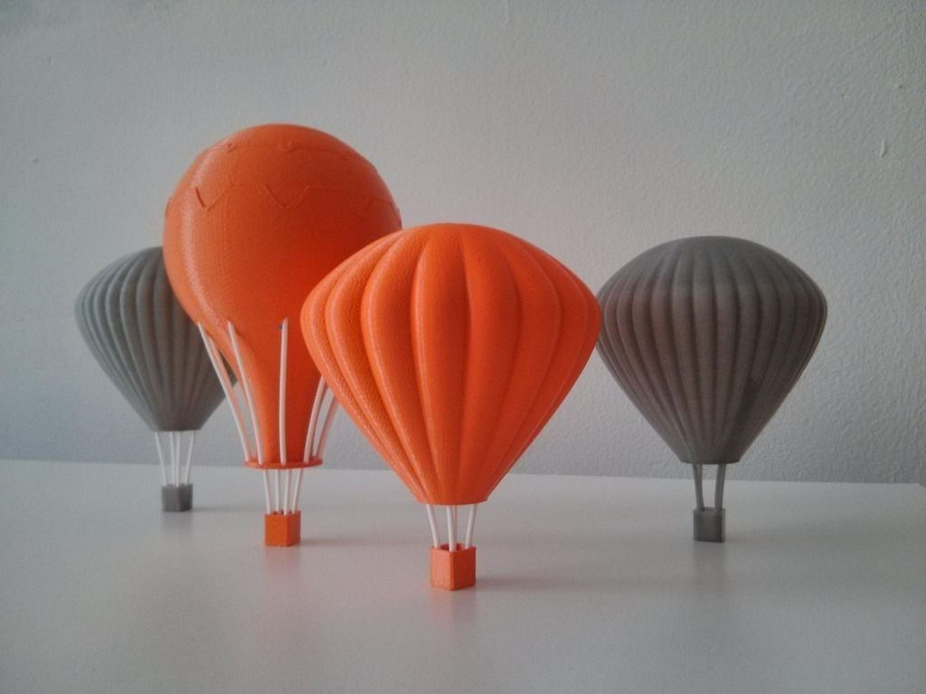 Printable Hot Air Balloons 3D Model 3D Printable Stl