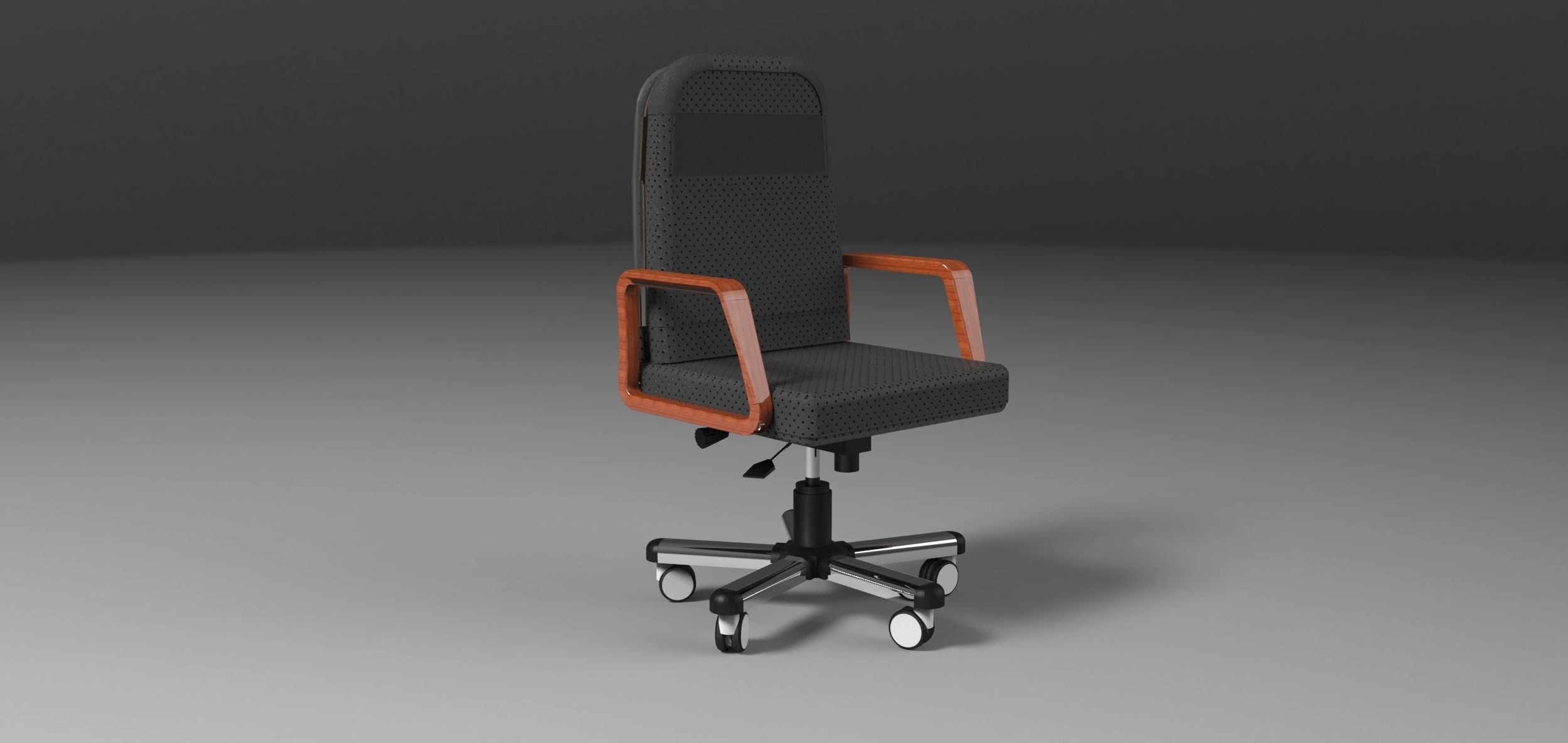 office chair dwg ball chairs for work 3d model obj cgtrader