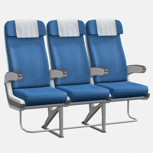 3D model Airplane chair  CGTrader