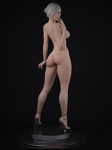 Nude female Character 3D Model max  CGTradercom