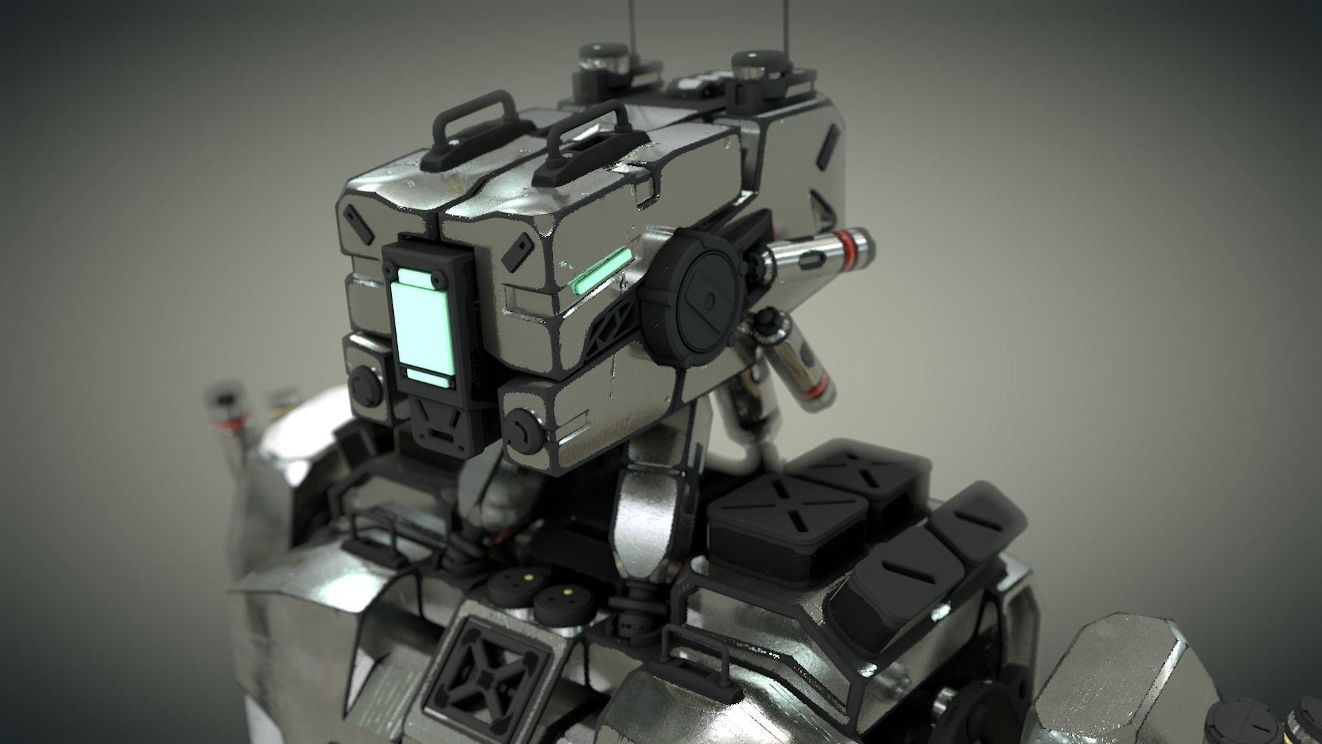 Machine 3d Robot Rigged Design