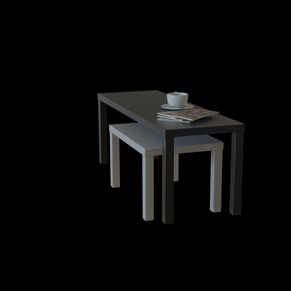 f8989b78ca6a Ikea Lack Nesting Table 3d Model
