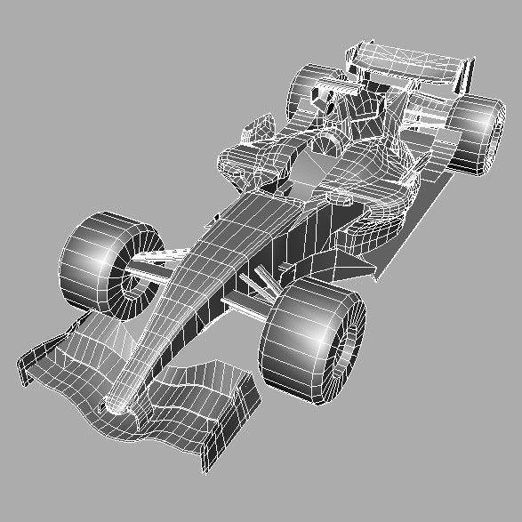 3D model McLaren F1 MP4-22 VR / AR / low-poly MAX OBJ 3DS