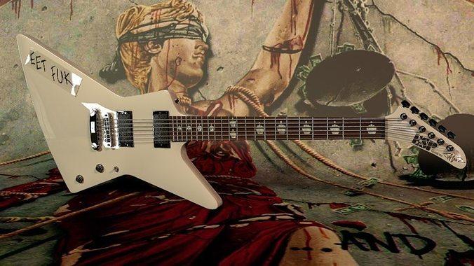 3D Model Metallica Eet Fuk ESP Guitar CGTrader