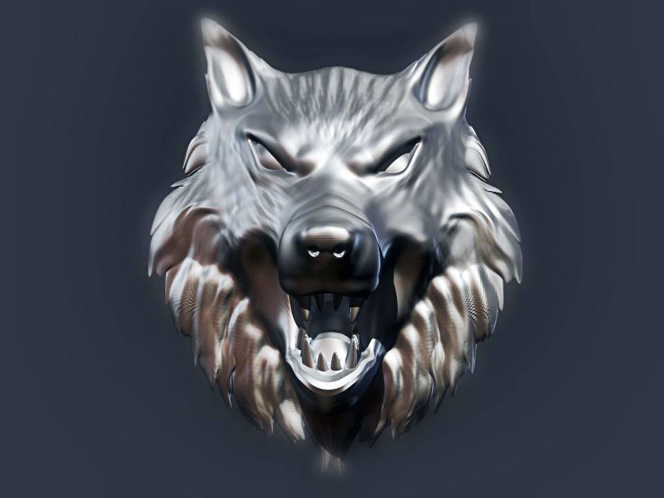 Www Girl Cartoon Wallpaper Com Wolf Head 2 3d Model 3d Printable Stl Cgtrader Com