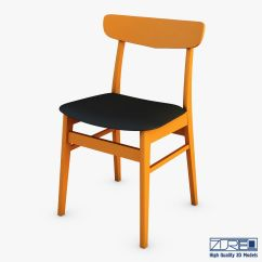 Danish Modern Dining Chair Cheap Chairs Set Of 4 3d Model Max Obj Mtl Fbx