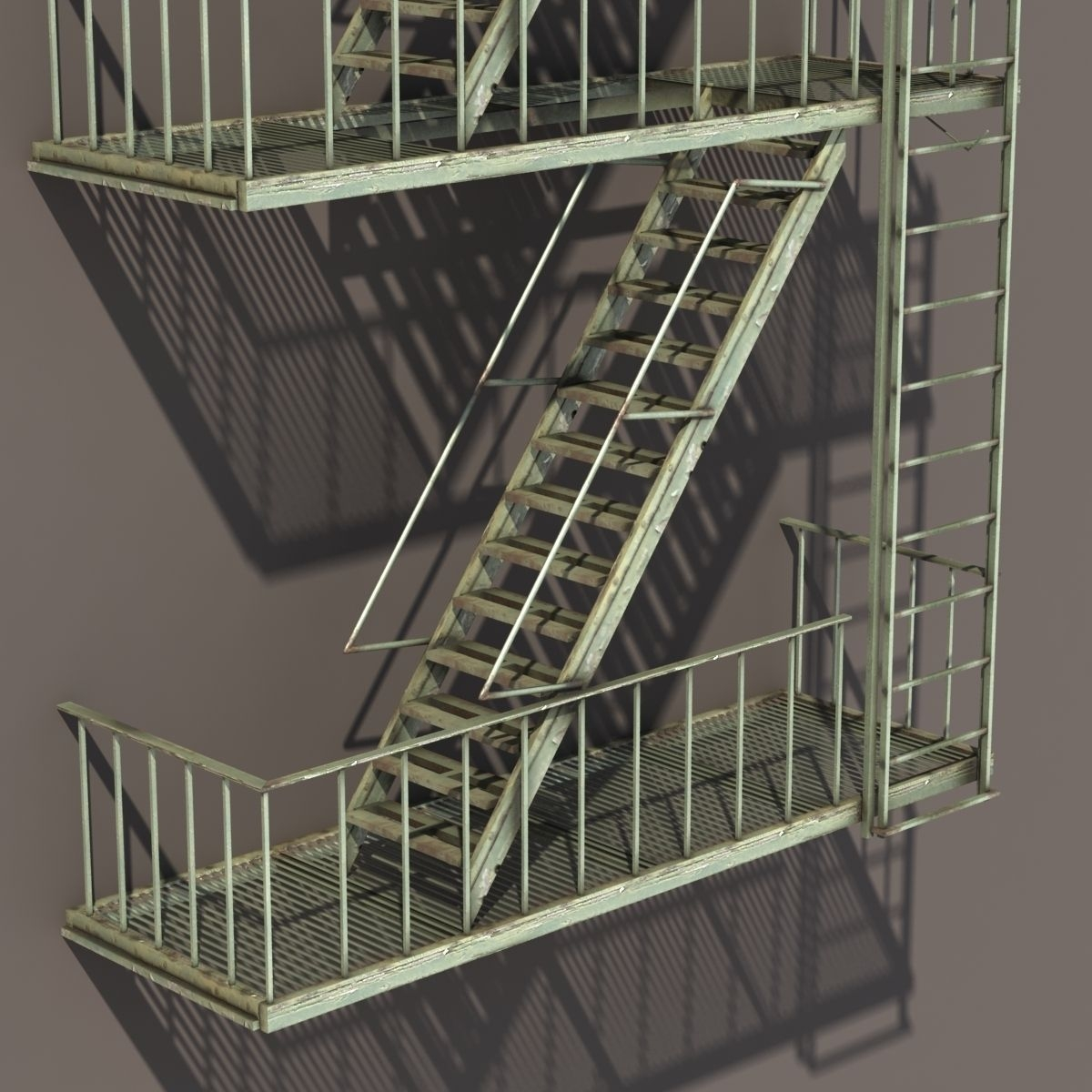 Fire Escape Stairs Low Poly 3D Model Cgtrader | Metal Fire Escape Stairs For Sale | Low Poly | Stair Treads | Building | Wrought Iron | Bim Cad