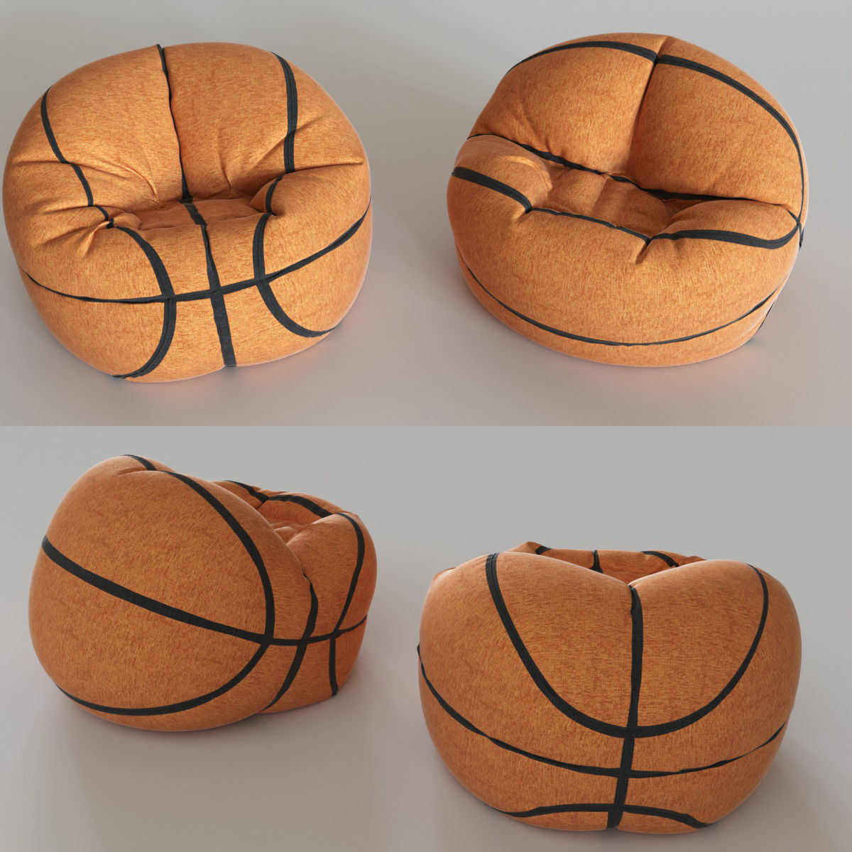 Basketball Bean Bag Chair Basketball Chair Bean 3d Model