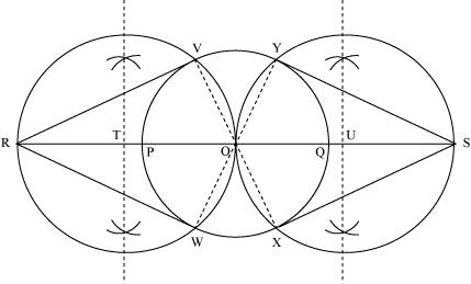 Draw a circle of radius 3 cm Take two points P and Q on