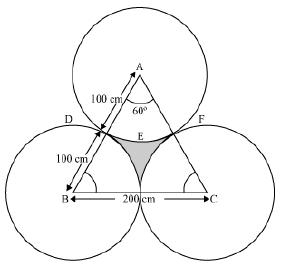 The area of an equilateral triangle ABC is 17320 5 cm2