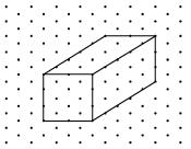 The dimensions of a cuboid are 5 cm, 3 cm and 2 cm Draw