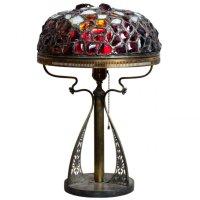 Pairpoint Corporation - Art Nouveau Chunk Jewel Lamp na ...