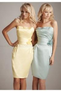 Tight Strapless Mini Ruched Junior Bridesmaid Dress na ...