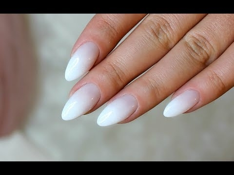 BABY BOOMER ALMOND NAILS  French fade  Ombre French na