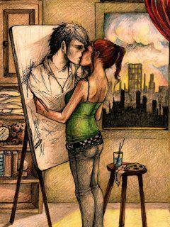 Cute Love Couple Hd Wallpaper Animated Realistyczny Rysunek Na Rysunki Zszywka Pl