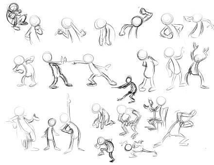 Jak rysować? pozy ludzików :) na Inspirujące rysuneczki